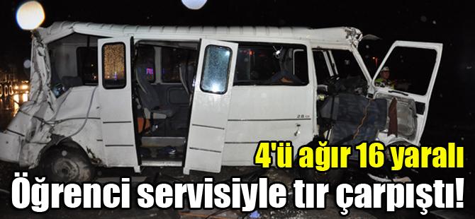 Konya'da öğrenci servisiyle tır çarpıştı: 4'ü ağır 16 yaralı