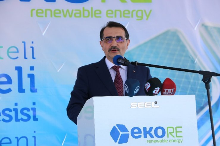 Özel teşvik alan Güneş Enerji paneli üretimi yapacak tesisin temeli atıldı
