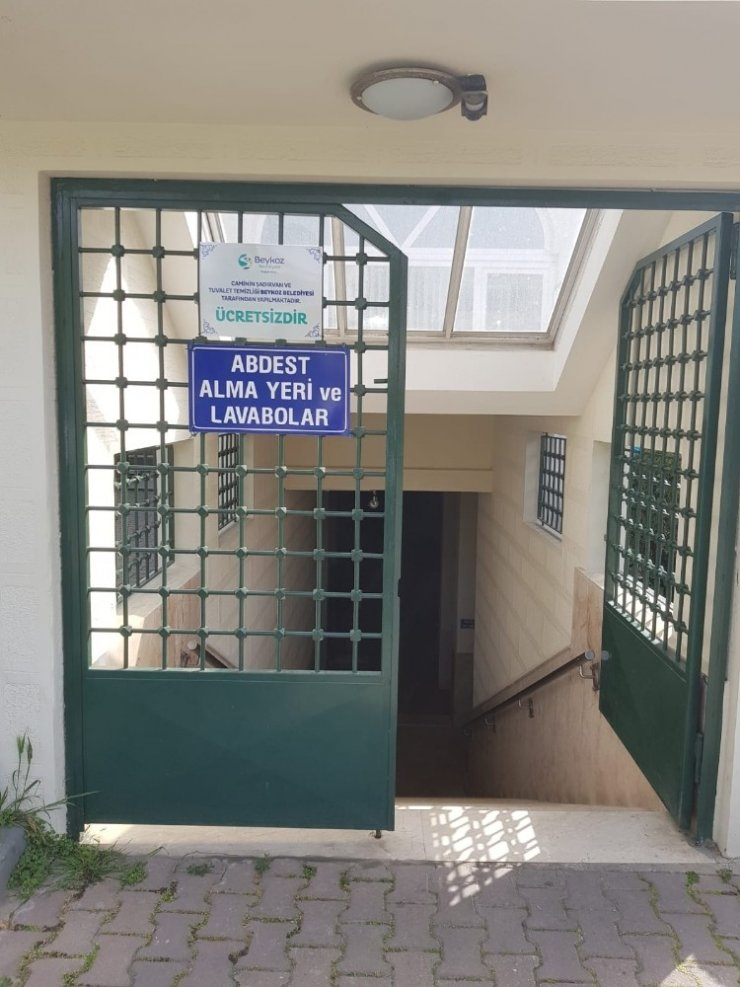 Beykoz'da cami tvaletleri ücretsiz oluyor