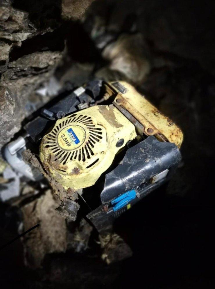 Cudi Dağı'nda PKK'ya ait 3 katlı mağara imha edildi