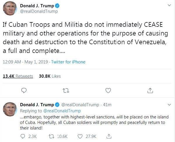 Trump'tan Küba'ya 'yaptırım' tehdidi