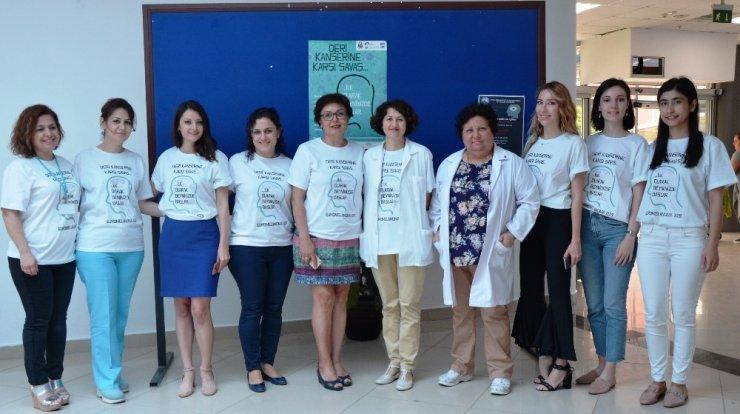 ADÜ Hastanesinde ücretsiz deri kanseri taraması yapıldı