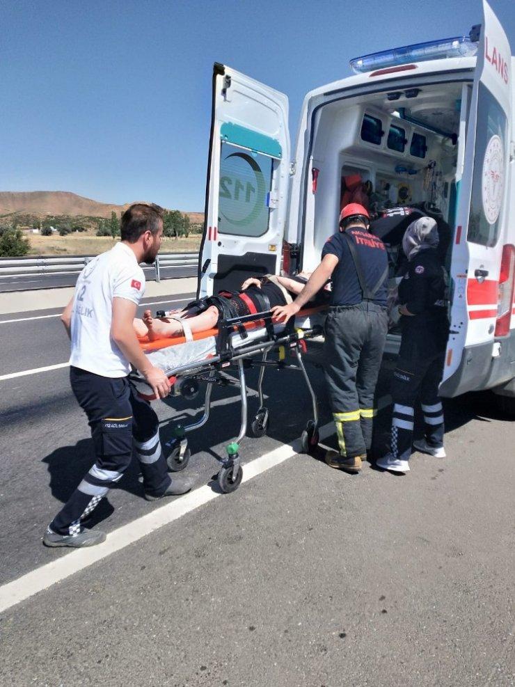 Aksaray'da trafik kazası: 3 yaralı