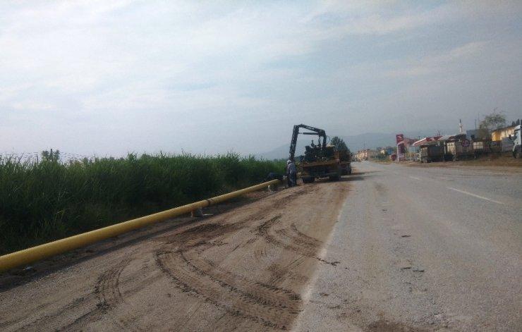 Hisarcık'ta doğalgaz çalışmaları