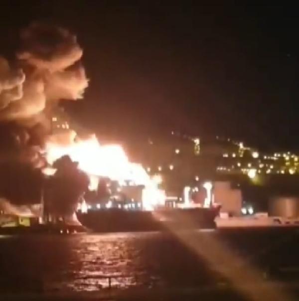 Limandaki gemide patlama! 1 ölü, 15 yaralı