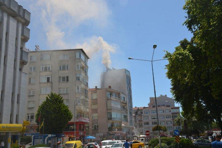 Sinop'ta çatı yangını
