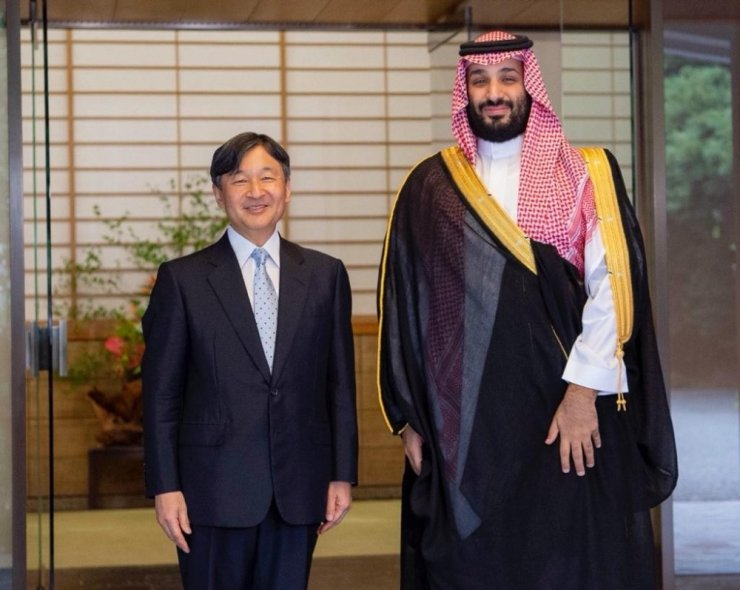 Veliaht Prens Selman, Japon İmparatoru ile görüştü