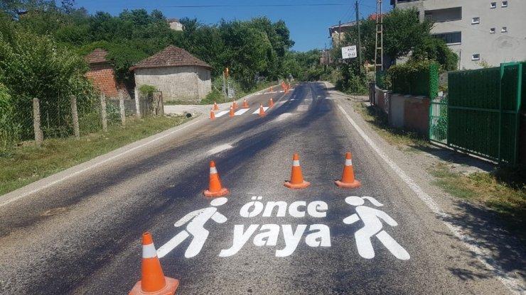 """Türkeli'de """"Önce Yaya"""" uygulaması"""