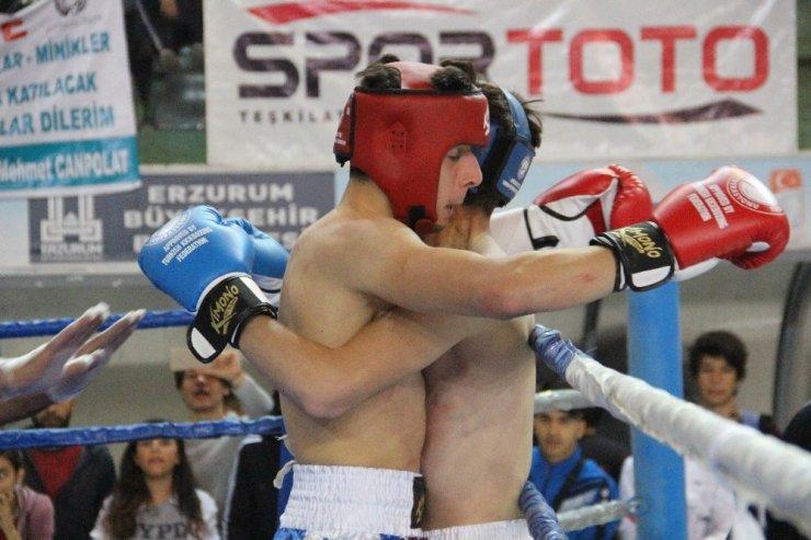 Erzurum'da Türkiye Kick Boks Şampiyonası heyecanı başladı