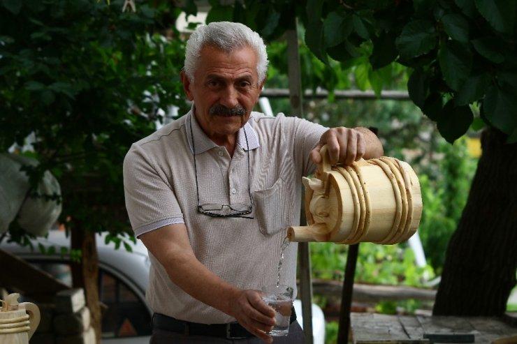 Unutulan tahta fıçı geleneği emekli tarih öğretmeninin ellerinde hayat buluyor