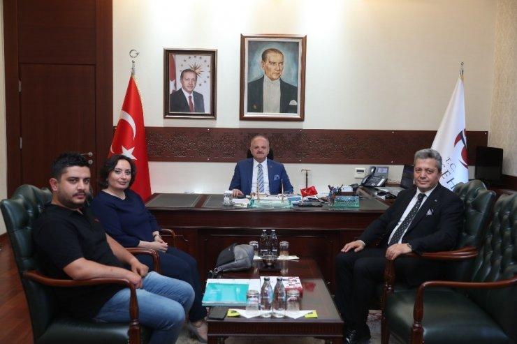 Vali Çakacak, TÜTAP Genel Başkanı Yıldız'ı kabul etti