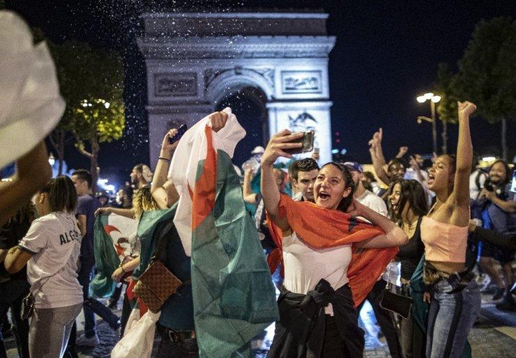 Fransa'daki Cezayirliler şampiyonluğu kutladı, 198 kişi gözaltına alındı
