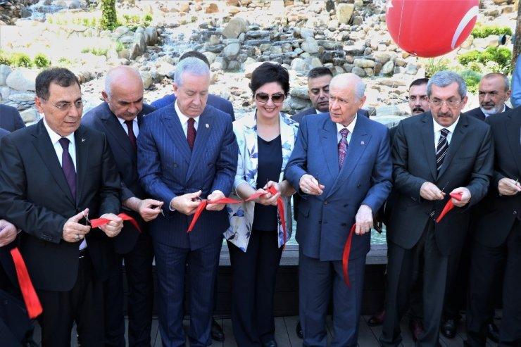MHP'nin lideri Bahçeli, Şehir Parkı'nın açılışını yaptı