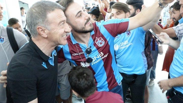 Trabzonspor'a Linz'de coşkulu karşılama