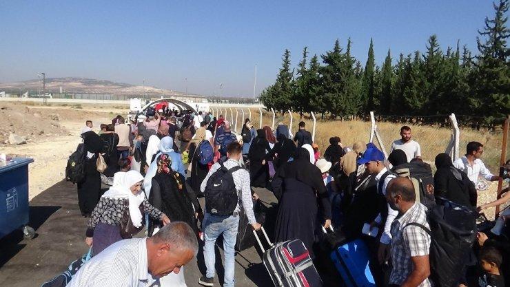 Ülkesine bayrama giden Suriyelilerin sayısı 12 bine ulaştı