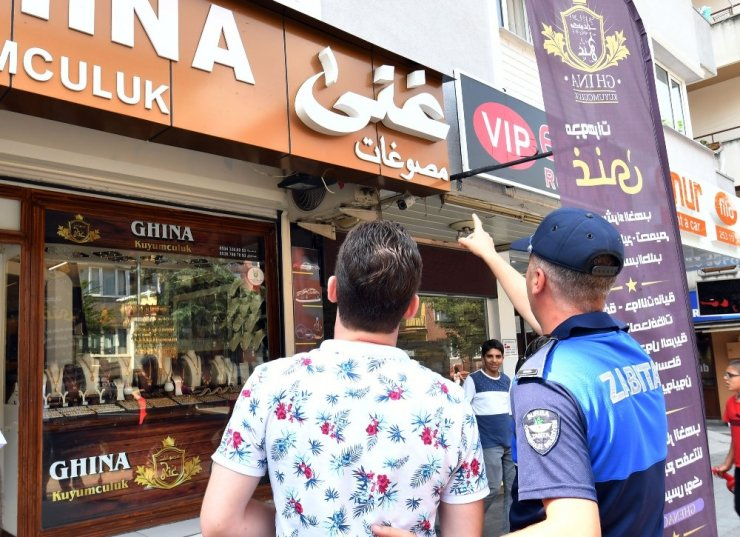 Osmangazi'de yabancı tabelalara sıkı takip