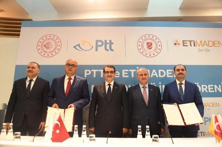 """""""PTT-ETİ Maden İş birliği Protokolü"""" imzalandı"""