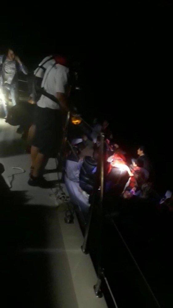 Kuşadası'nda 26'sı çocuk 129 göçmen yakalandı