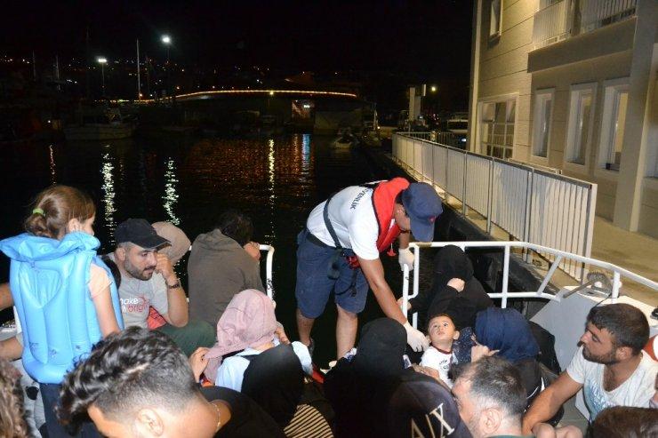 Kuşadası'nda 13'ü çocuk 45 düzensiz göçmen yakalandı