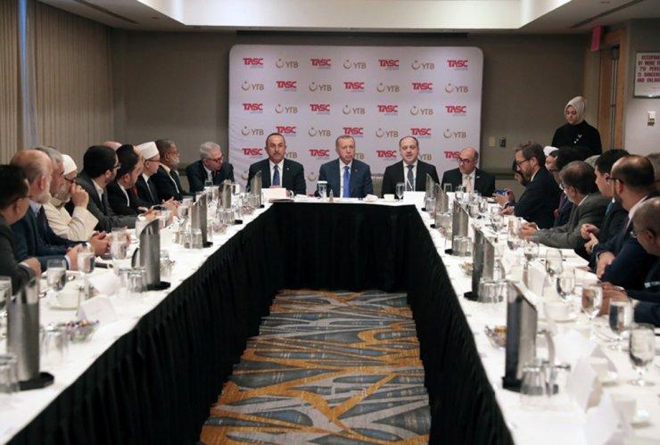 Cumhurbaşkanı Erdoğan, ABD'li Müslüman toplumun temsilcileriyle buluştu