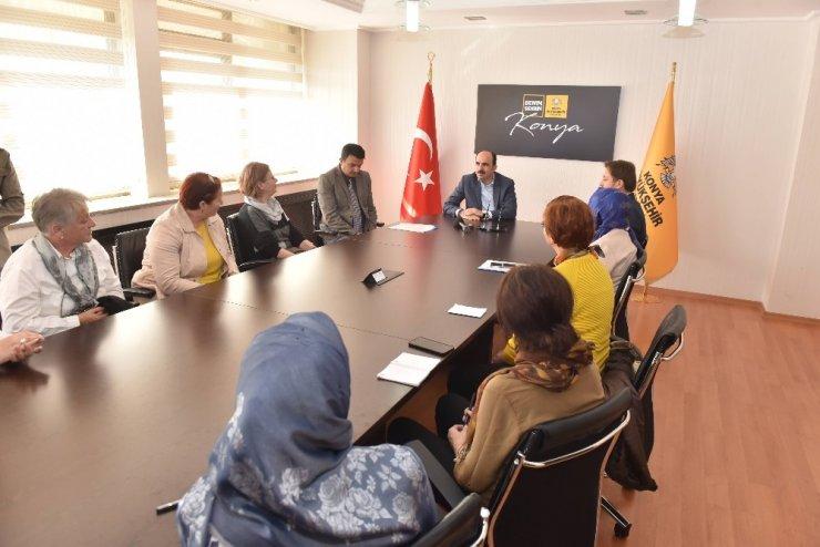 Balkanlardaki KOMEK eğitmenlerinden Başkan Altay'a ziyaret