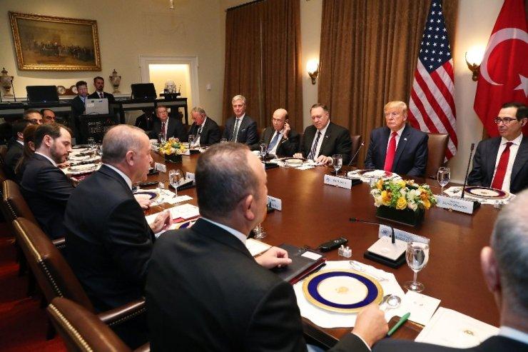 Erdoğan ve Trump çalışma yemeğinde
