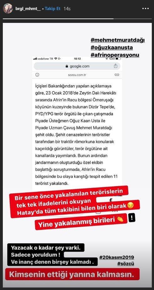 Şehidin eşi Birgül Muratdağı: