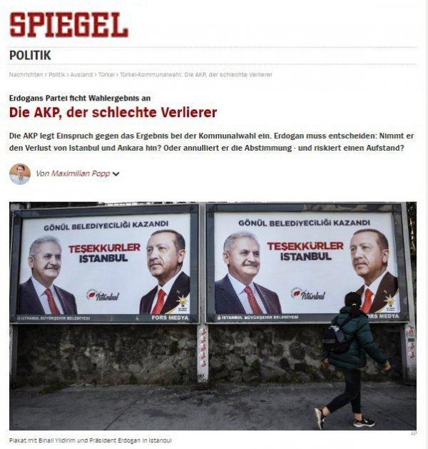 Der Spiegel harekete geçti! Kaos çağrısı